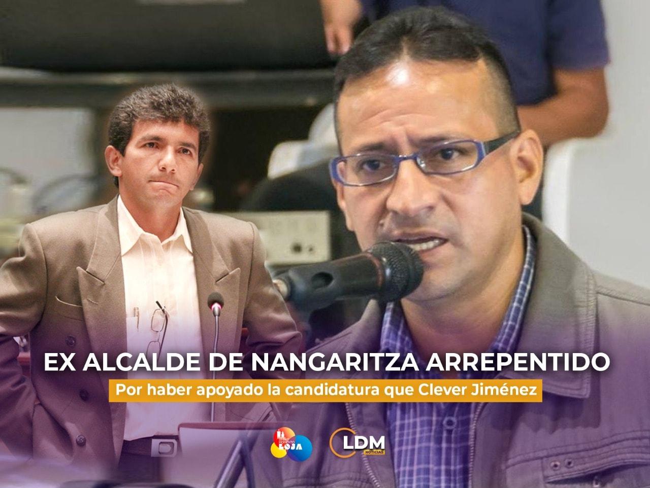 Ex alcalde de Nangaritza pide disculpas por haber apoyado a Cléver Jiménez.