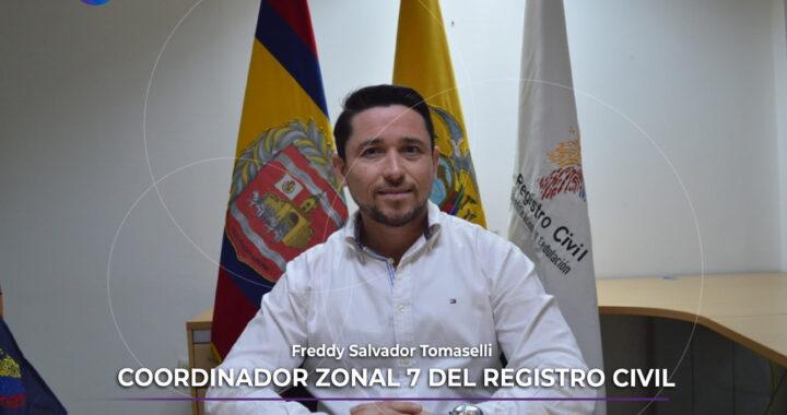 Freddy Salvador es el nuevo Coordinador Zonal 7 del Registro Civil.