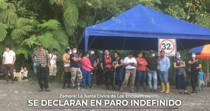 Junta Cívica se declara en paro indefinido en Los Encuentros.