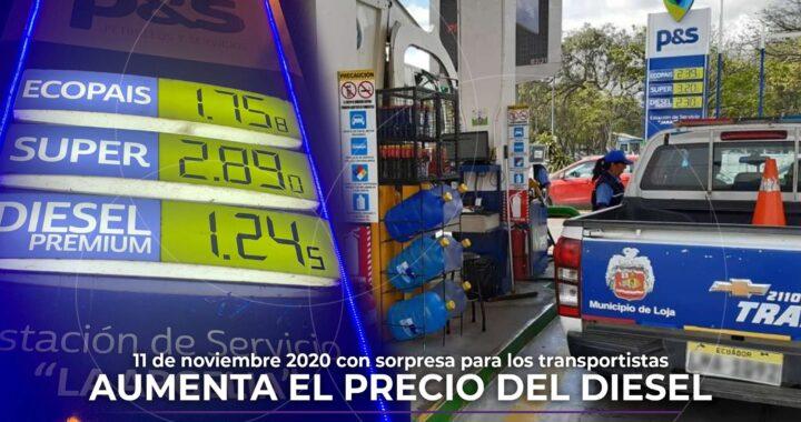 Este 11 de noviembre incrementan el precio del diésel.