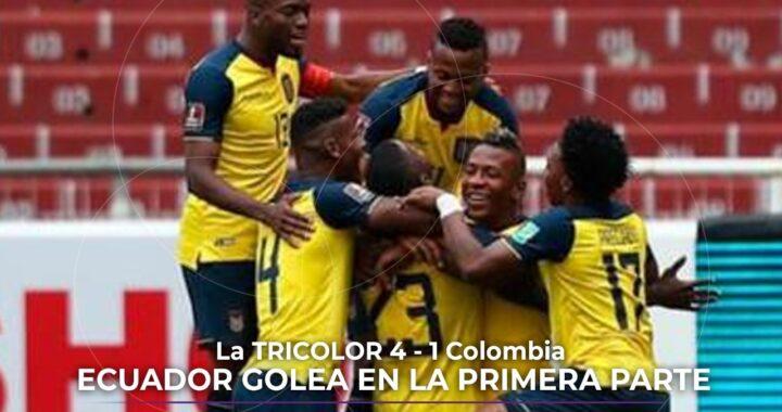 Ecuador golea a Colombia.