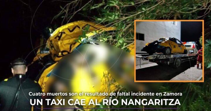 Taxi que cae al río Nangaritza deja varios muertos
