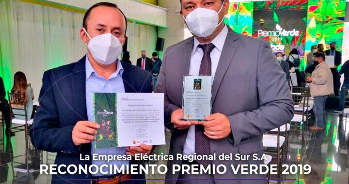 Reconocen proyecto de EERSSA en Premios Verde 2019.