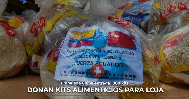 Kits alimenticios donados para Loja