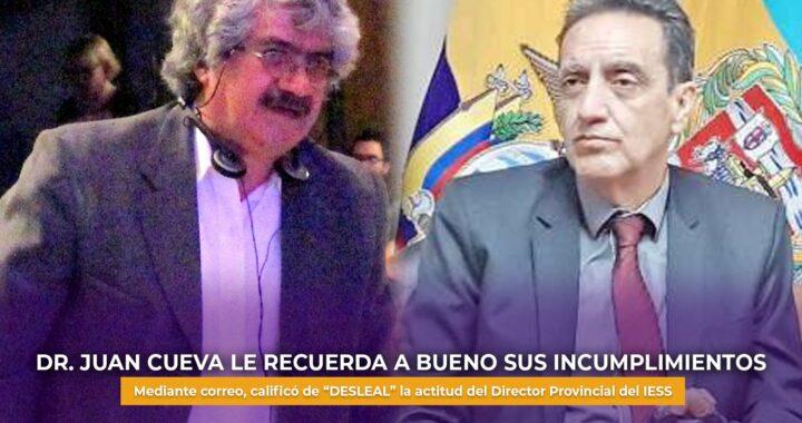 Coordinador de Salud del IESS se cansó de la actitud de Ricardo Bueno.