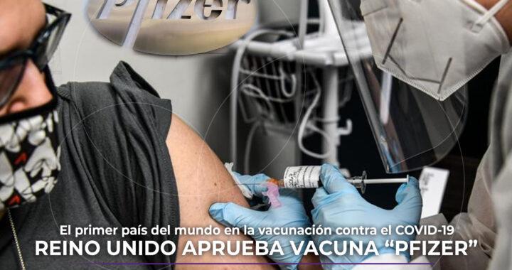 Reino Unido primer país en iniciar vacunación contra el COVID-19