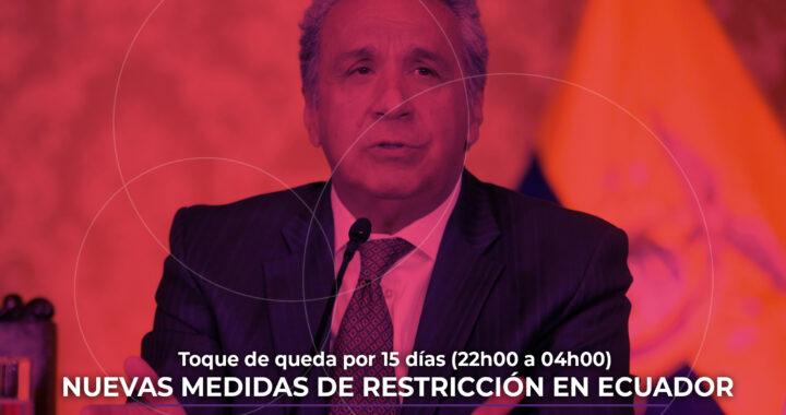 Nuevas medidas de restricción en Ecuador por cepa de Reino Unido.