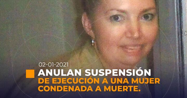 Anulan la suspensión de la ejecución de mujer condenada a muerte en EE.UU