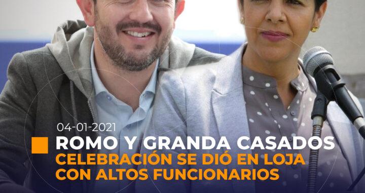 Matrimonio de María Paula Romo e Iván Granda en Loja con enorme resguardo policial.