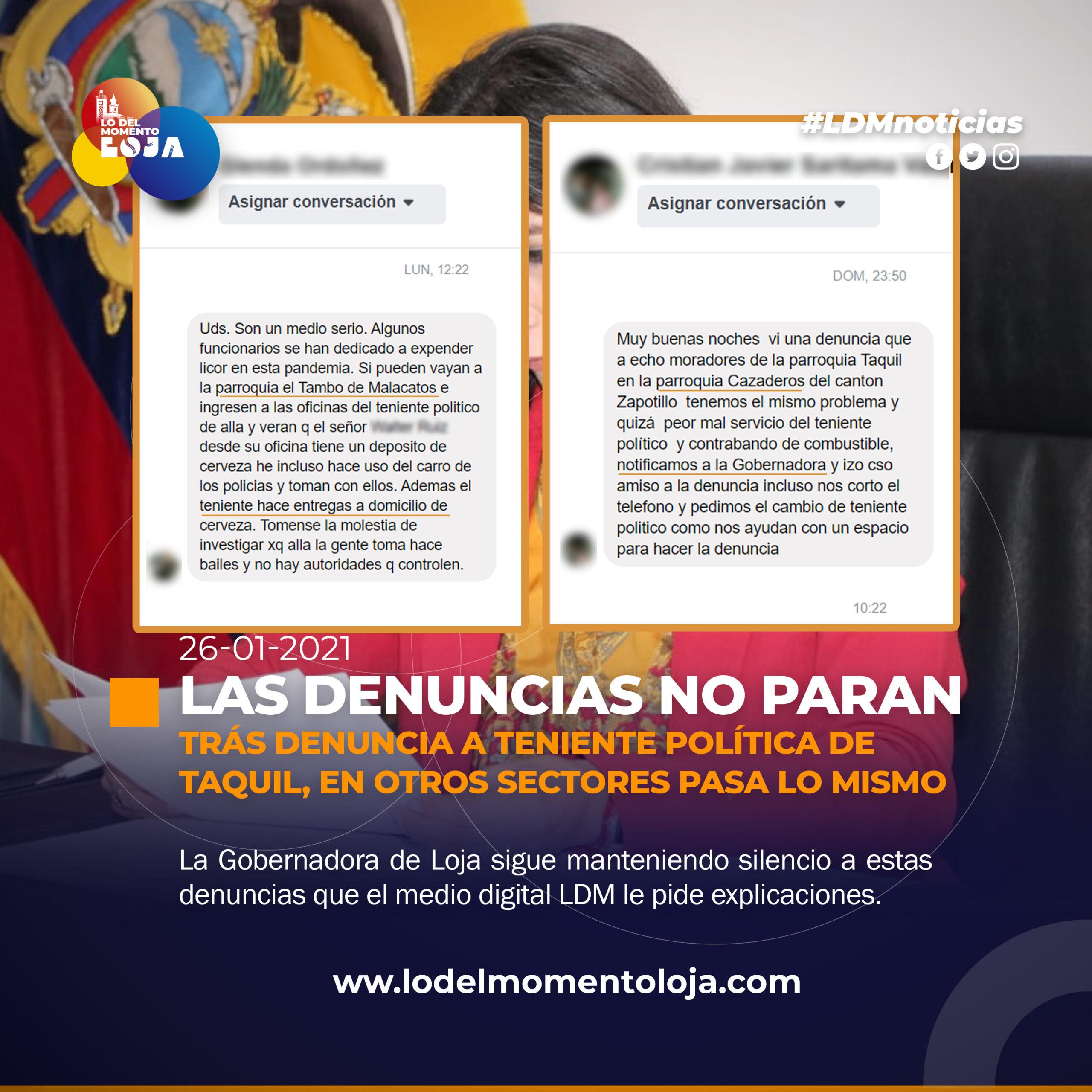 LAS DENUNCIAS EN TENENCIAS POLÍTICAS NO PARAN