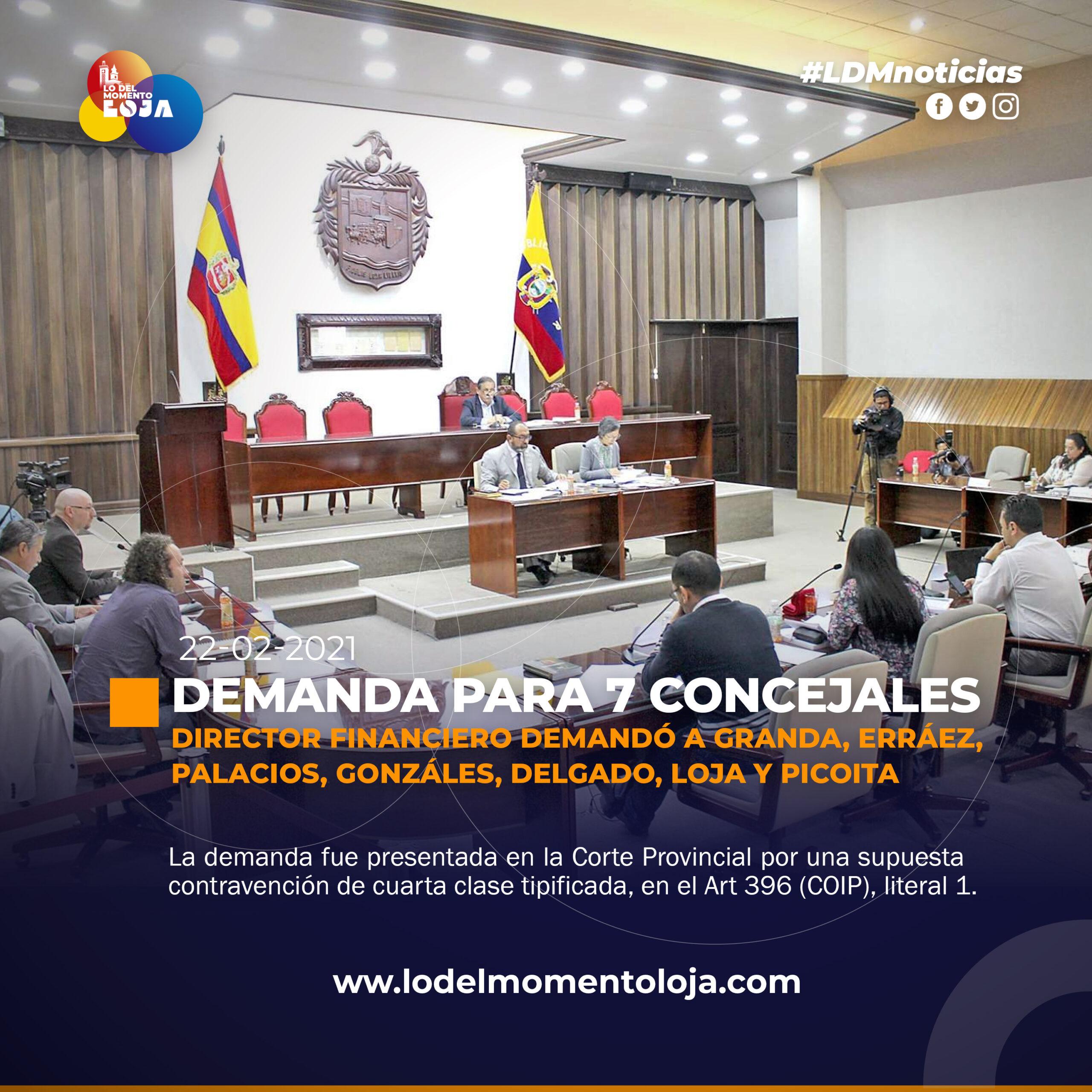 DEMANDAN A 7 CONCEJALES DE LOJA