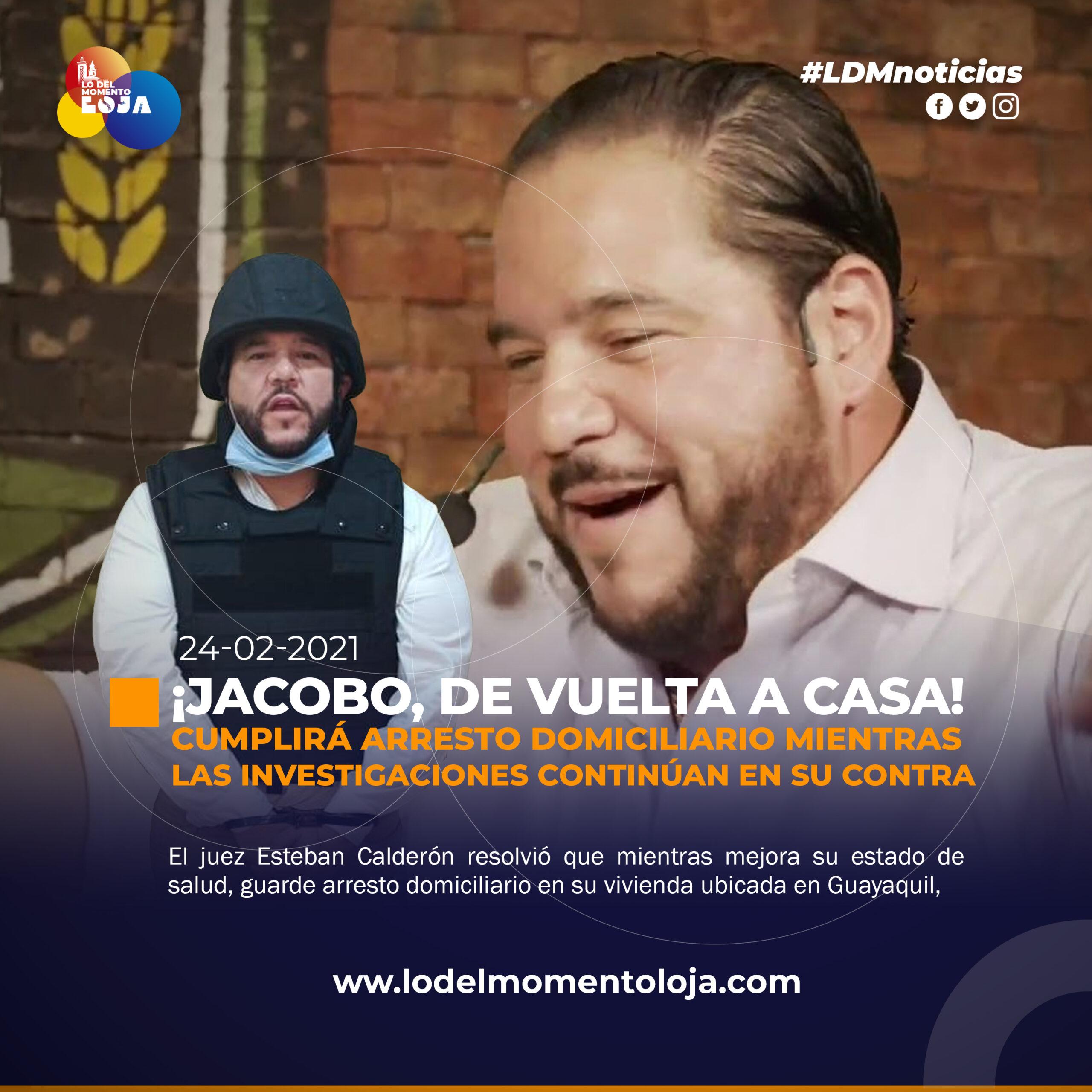 JACOBO BUCARAM REGRESA A CASA CON NUEVA MEDIDA.