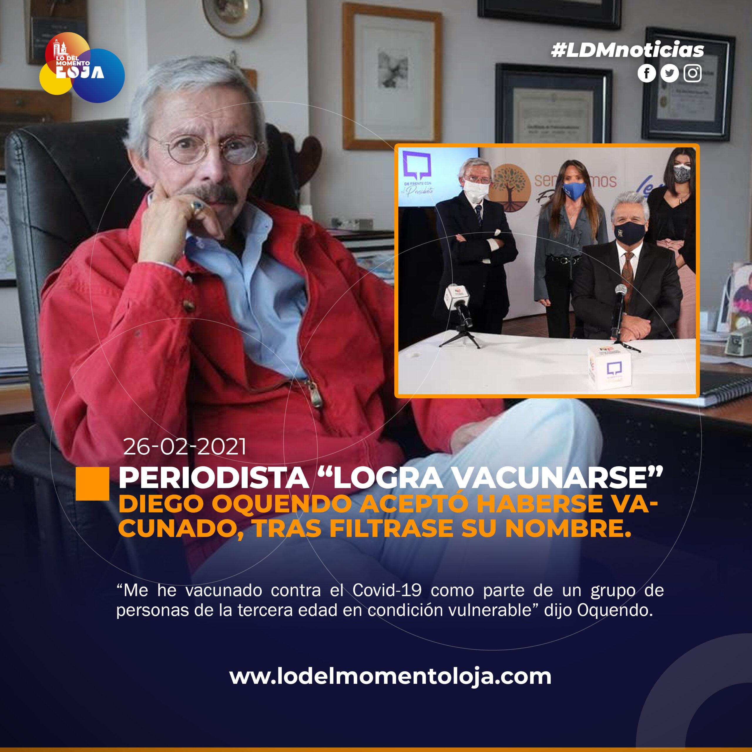 PERIODISTA LOGRA VACUNARE CONTRA EL COVID-19