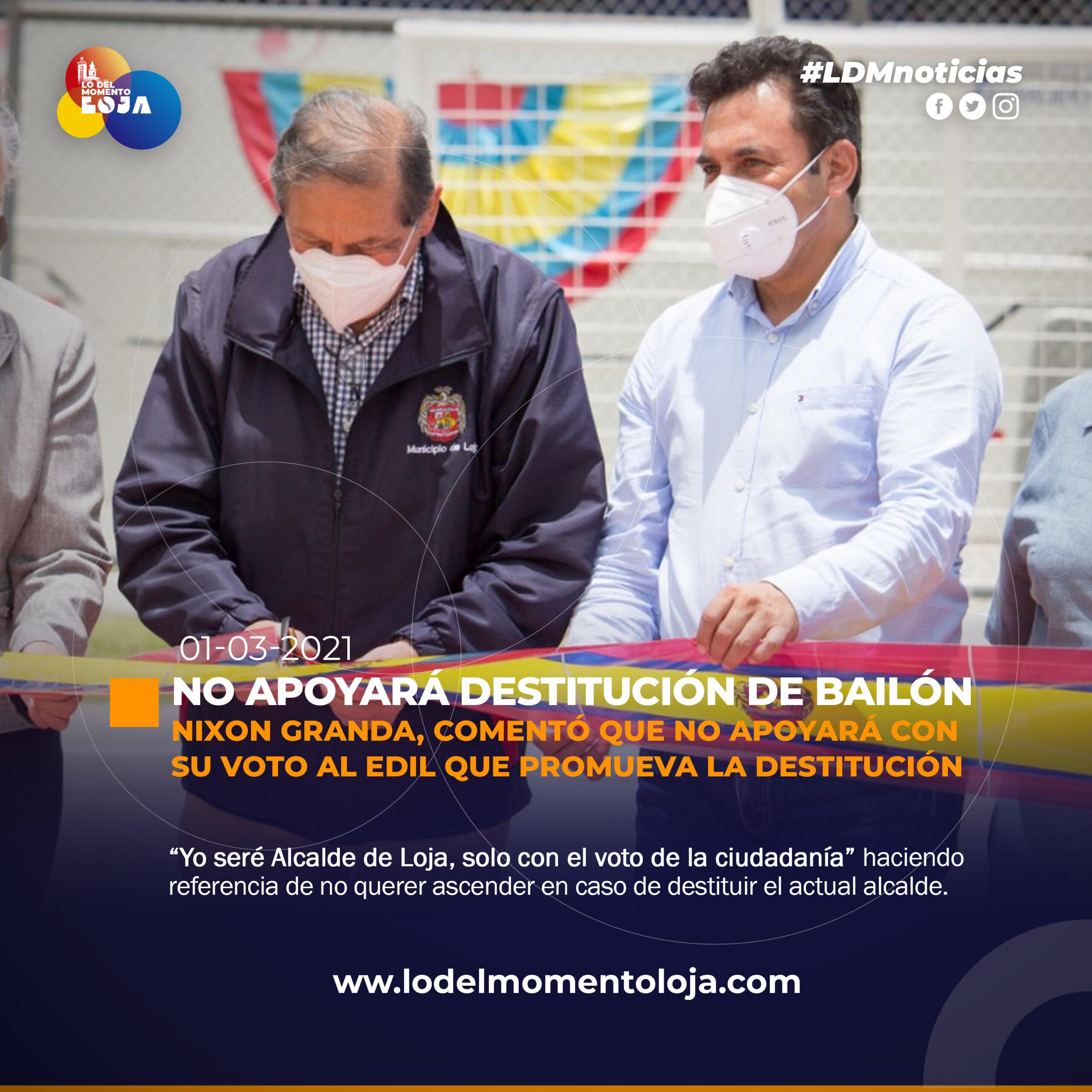 Vicealcalde no apoyará la destitución del Alcalde de Loja