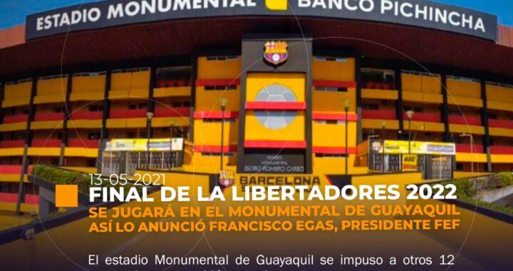 Monumental será la sede de la final de la Libertadores 2022