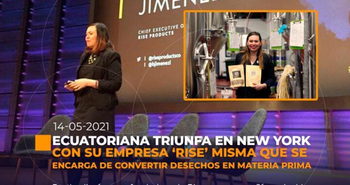 Ecuatoriana triunfa en New York