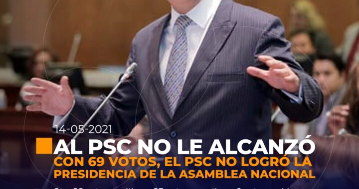PSC no logró su objetivo