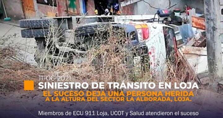Accidente de tránsito en Loja.