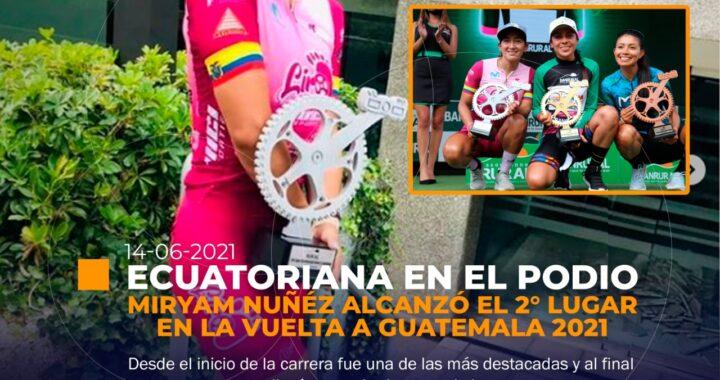Ecuador en el podio femenino.