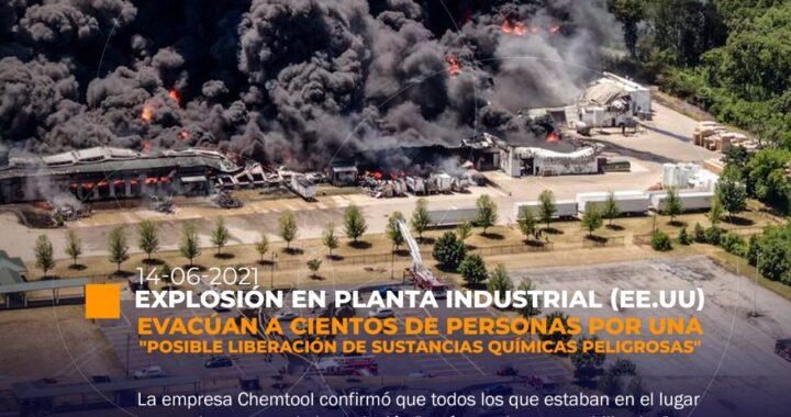 Explosión de planta industrial en EE.UU.