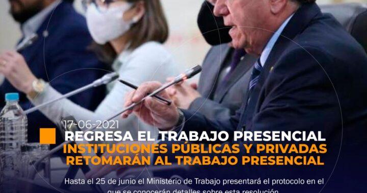 Retomarán el trabajo presencial en Ecuador
