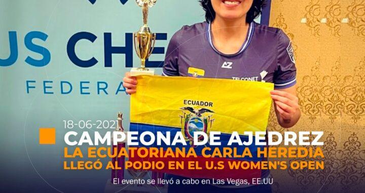 Ecuatoriana campeona mundial de ajedrez
