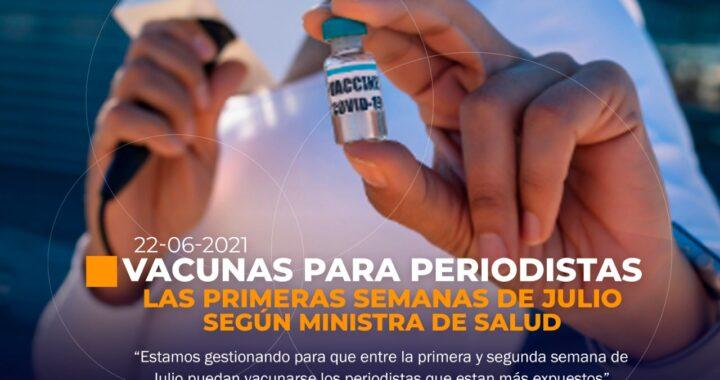 Periodistas en Ecuador serán vacunados