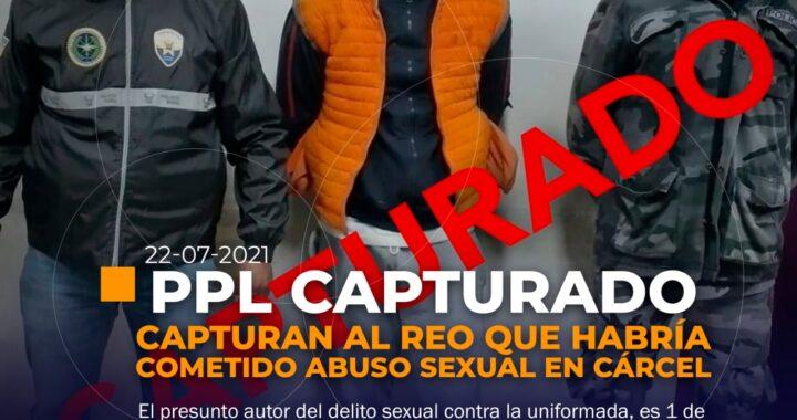 Capturan a presunto autor de abuso sexual contra una uniformada en motín