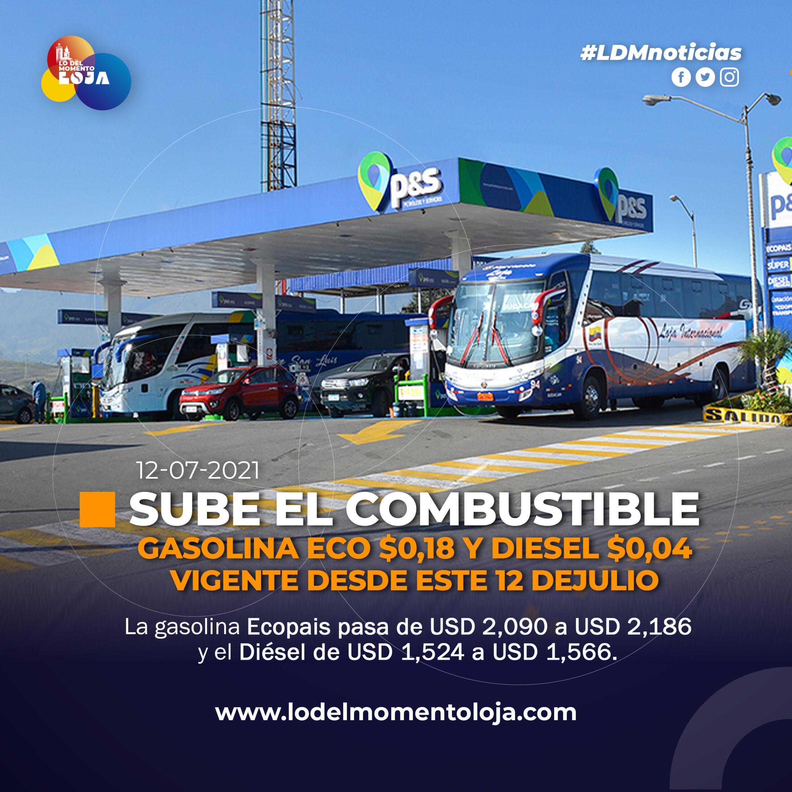Nuevo incremento del combustible.