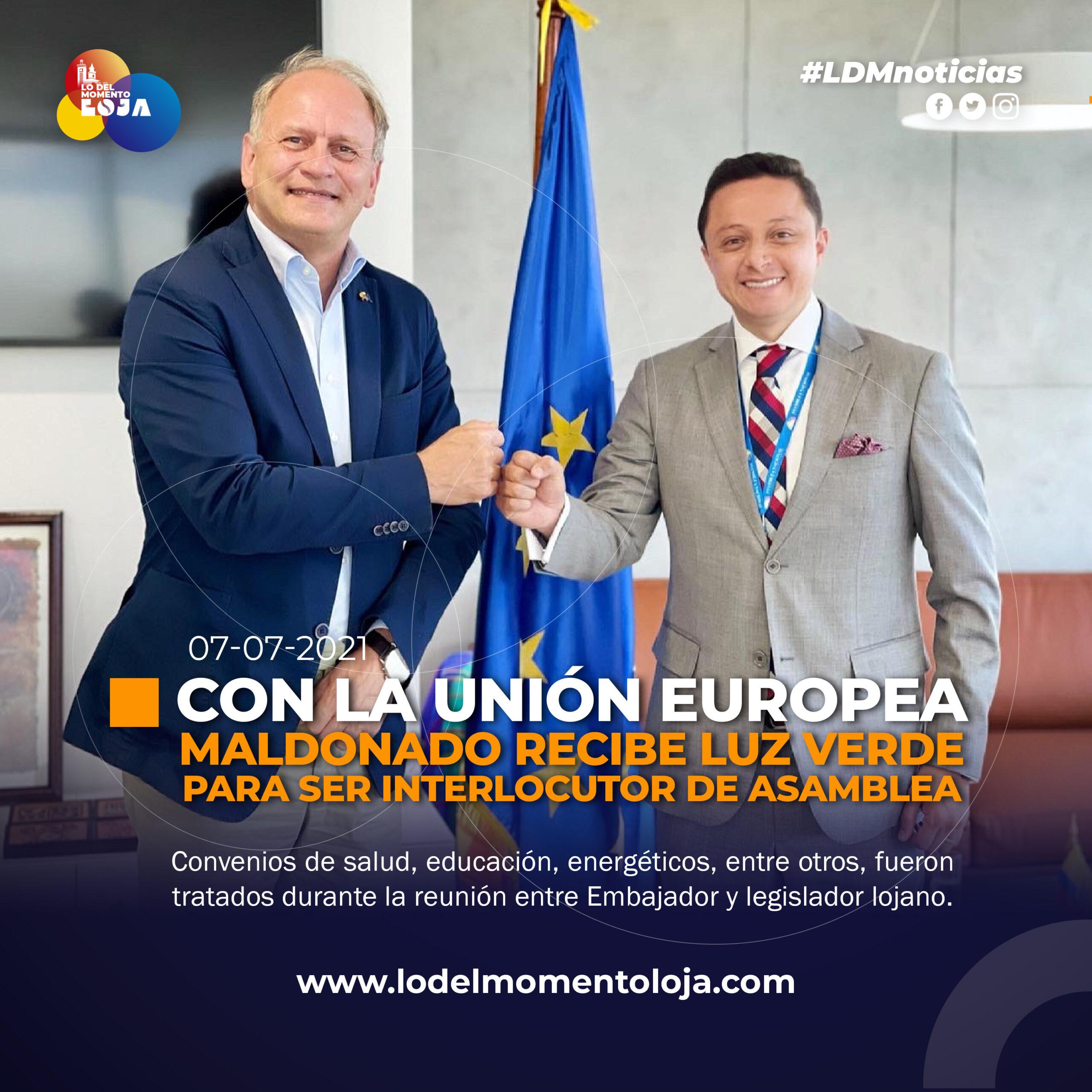 Asambleísta genera espacios de cooperación con la Unión Europea.
