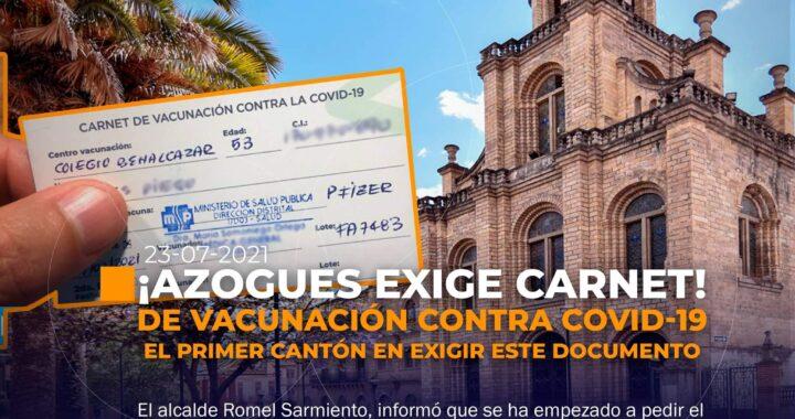 Azogues exige carnet de vacunación