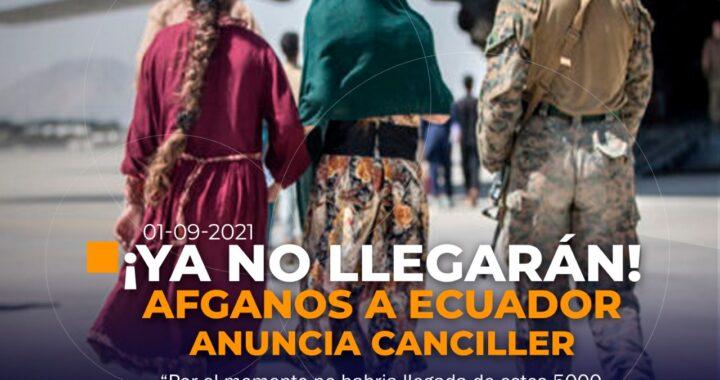 Afganos no vendrán a Ecuador