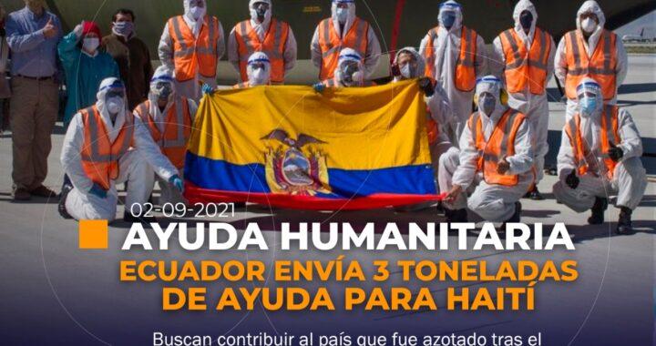 Ecuador envía ayuda humanitaria para Haití