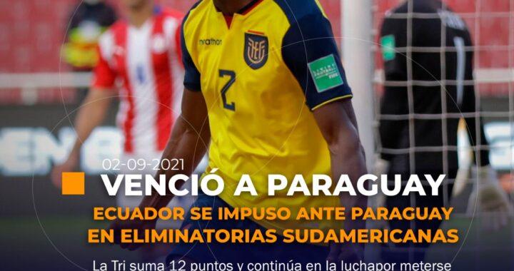 Ecuador vence a Paraguay en Quito.