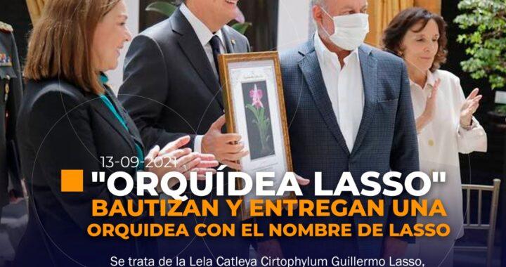 Bautizan a una orquídea con el nombre del presidente.