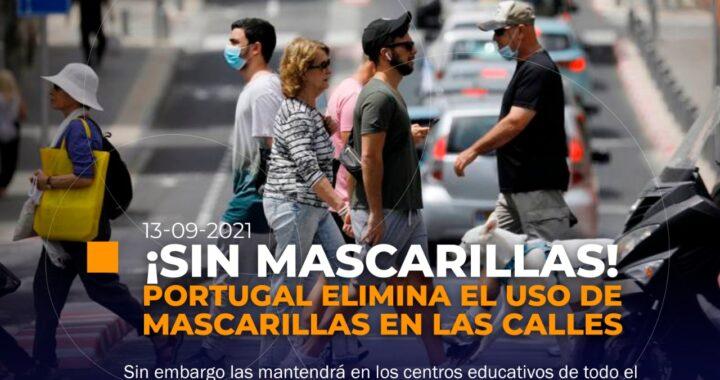 Portugal le dice adiós a las mascarillas obligatorias