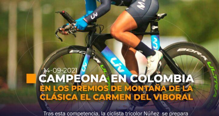 Ciclista ecuatoriana se consagra campeona en Colombia