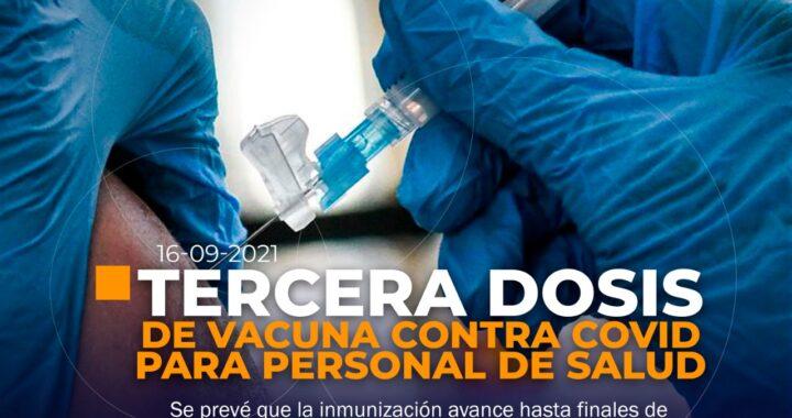 Tercera dosis de vacunas