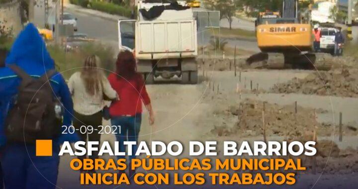 Proyecto asfaltado en barrios de Loja.