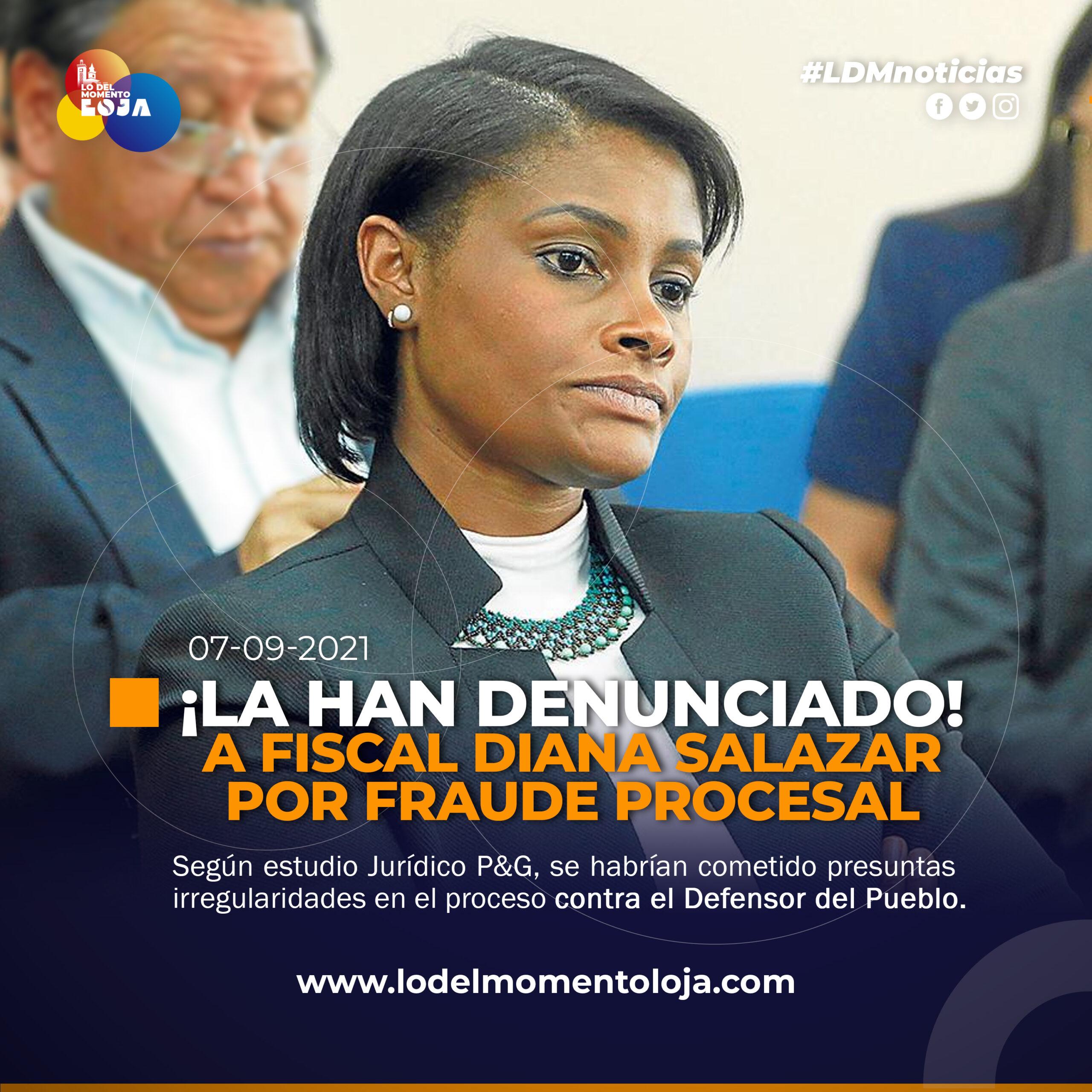 Denuncian a la Fiscal Diana Salazar