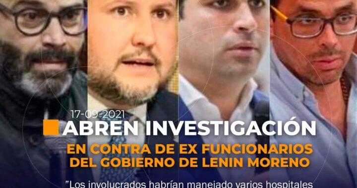 Investigación contra ex funcionarios