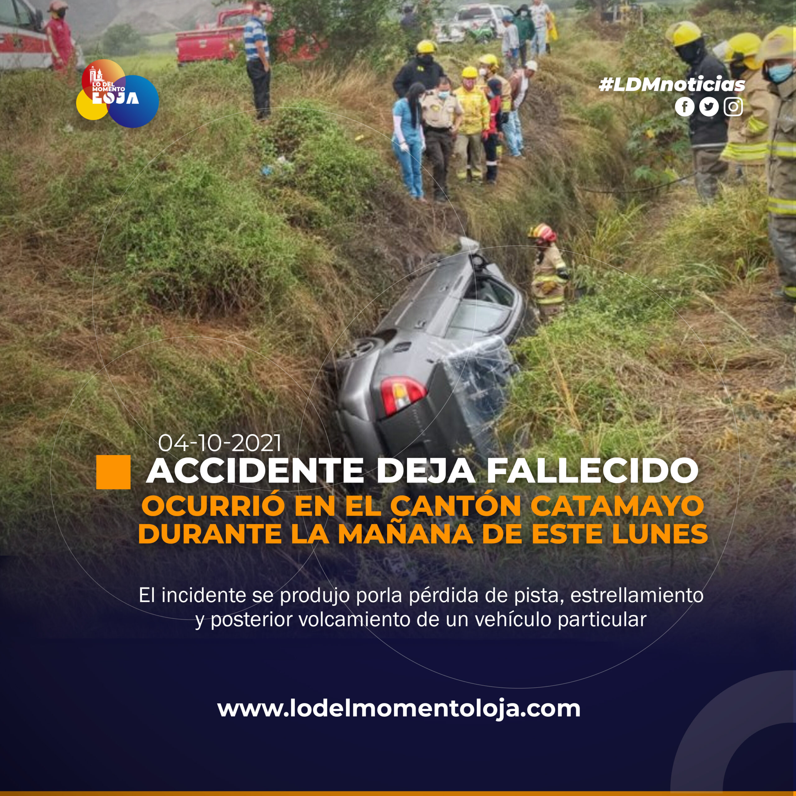 Accidente cobra la vida de un ciudadano