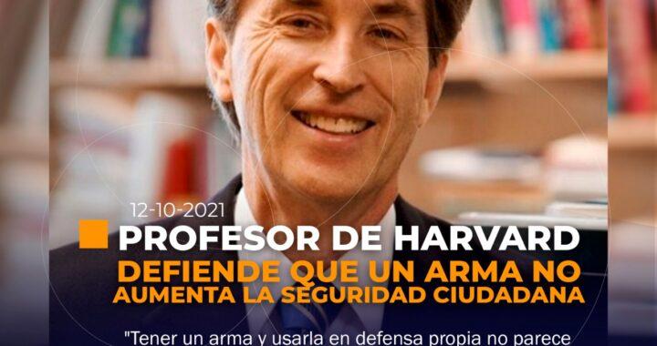 'Un arma no aumenta la seguridad ciudadana'