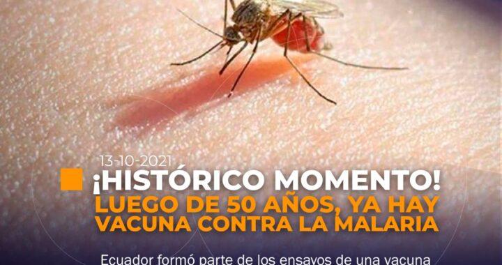 Ya hay vacuna contra la malaria.