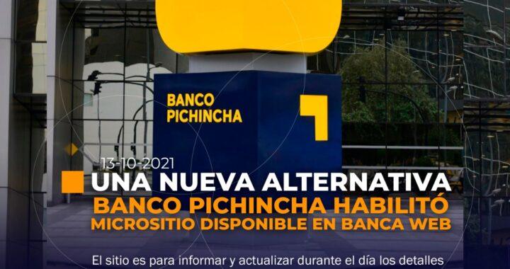 Banco Pichincha habilita un micrositio