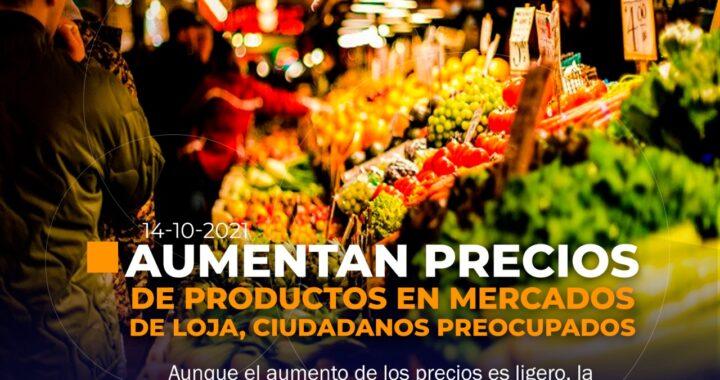 Aumentan precios de productos en mercados