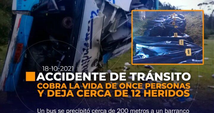 Accidente de tránsito deja fallecidos