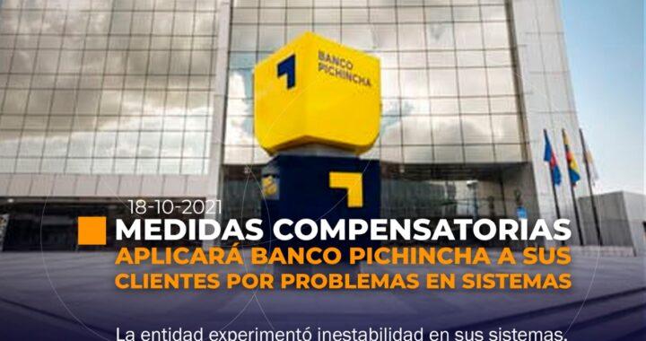 Medidas compensatorias por psrte de Banco Pichincha