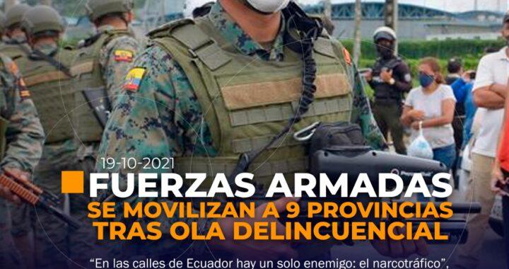FF.AA. Patrullan 9 ciudades de Ecuador