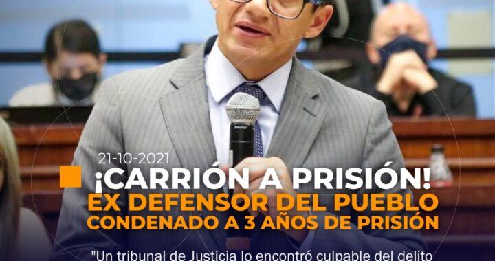 Ex Defensor sentenciado a prisión.